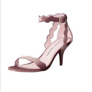 Chinese Laundry blush velvet sandals